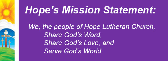 Hope's Mission Statement
